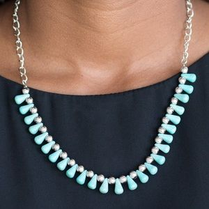 Earthy Turquoise Necklace Earring Set NWT